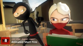 "CGI 3D Animated Short Film ""A NINJA LOVE STORY"" Funny Animation by Daniel Klug"