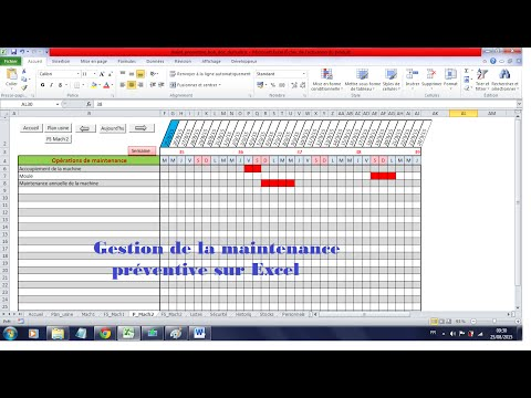 Mise en place d'une maintenance préventive sur Excel
