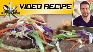 Sausage Burgers With Slaw - Video Recipe