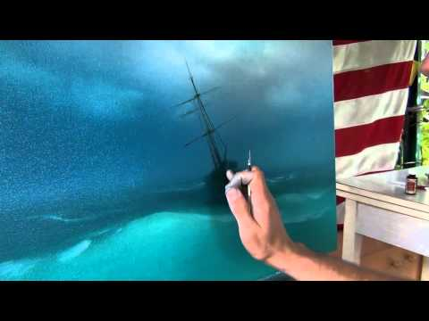 Best lesson. How to paint storm on the sea. How to paint sea