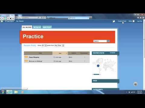 Kidblog tutorial - YouTube