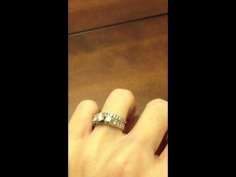 kay-certified-1.02-ctw-round-3-stone-diamond-14k-white-gold-bridal-set