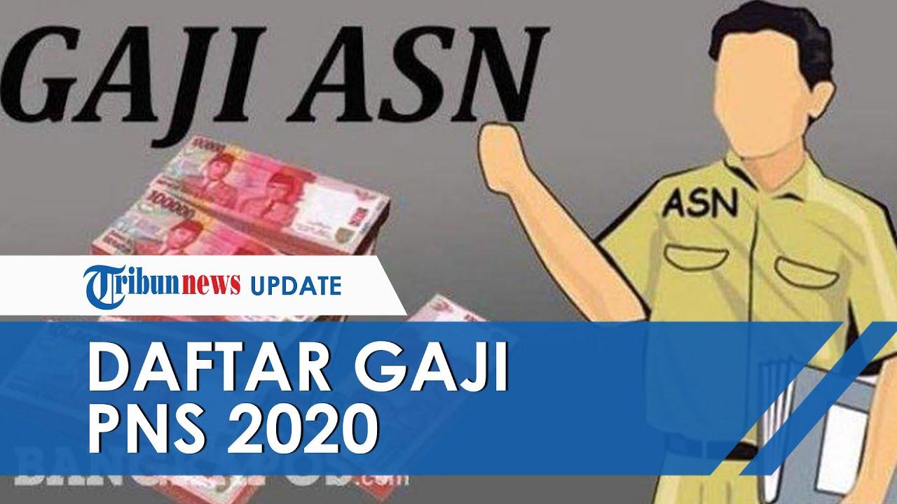 Rincian Daftar Gaji PNS 2020 Terbaru, Golongan I hingga IV ...