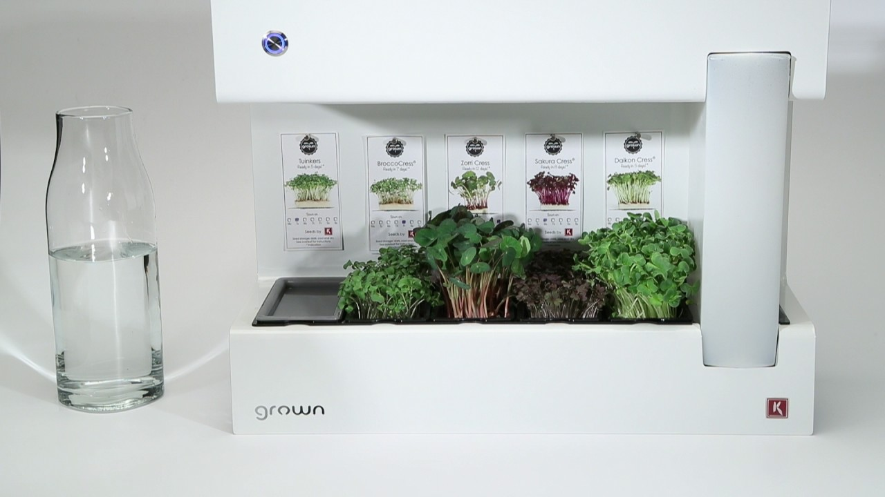 grown - advanced indoor garden for microgreens - youtube