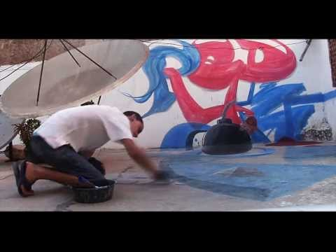 Red Bomb Making of 3D Street Art