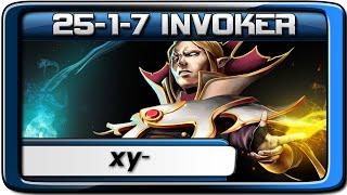 xy- Invoker 25-1-7 ✪ Pro Dota 2 Gameplay