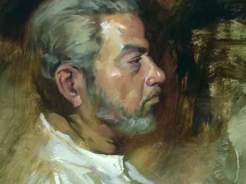 Live Portrait painting in Oil Demo By Prafull Sawant With Alla Prima Portrait Techniques
