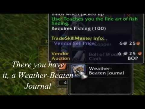 Wow Fishing - Weather Beaten Journel