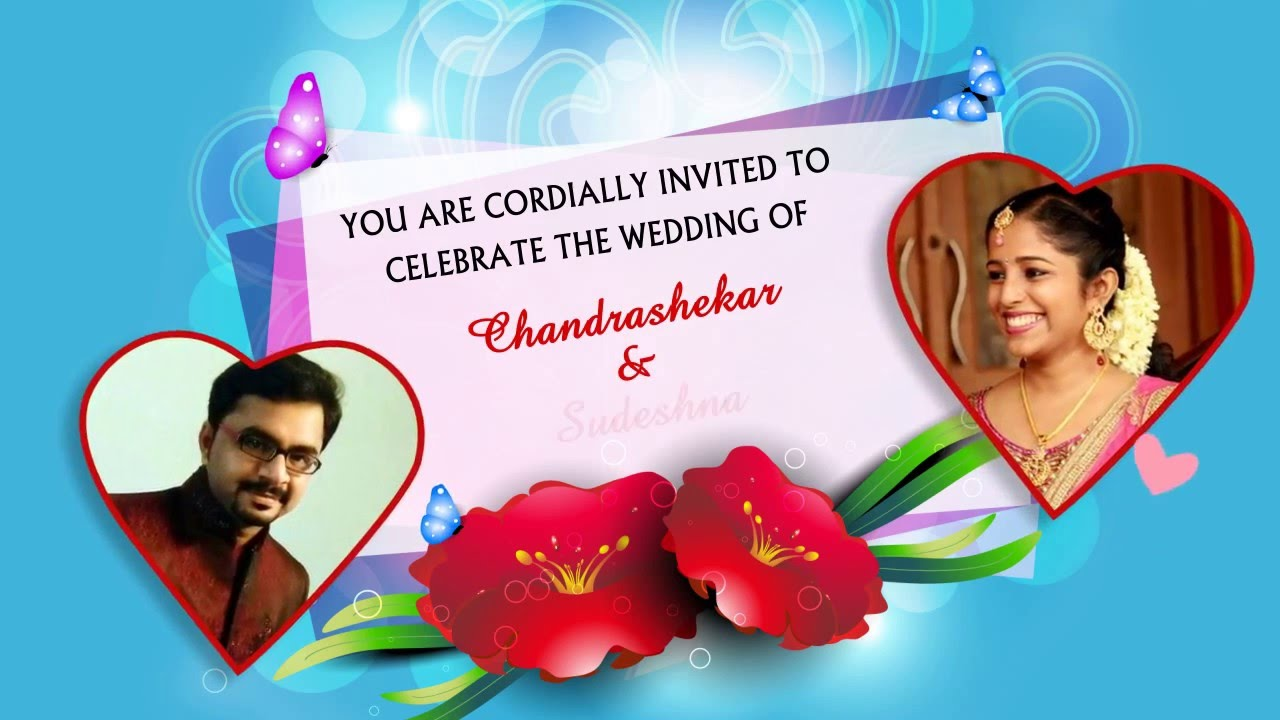 E card Wedding Invitation with Picture (WhatsApp Friendly) - YouTube