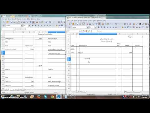 Journalizing Bank Reconciliation Data