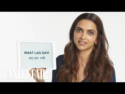 Deepika Padukone Teaches You Hindi Slang  Vanity Fair