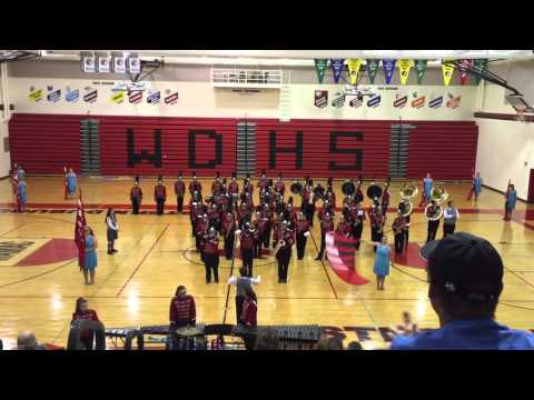 (22) (Seniors/Fight Song) Western Dubuque HS Marching Band & Color Guard Concert October 5, 2015