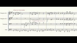 Disney Medley - Brass Quartet with sheet music