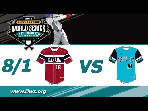 2018 Intermediate World Series Game 13: Puerto Rico vs Canada