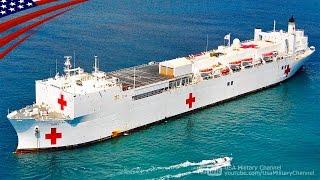 世界最大の病院船マーシーの内部映像(米海軍) ベッド1,000床・手術室12室・CTスキャン