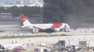 Plane Catches Fire at Florida Airport : ABC News