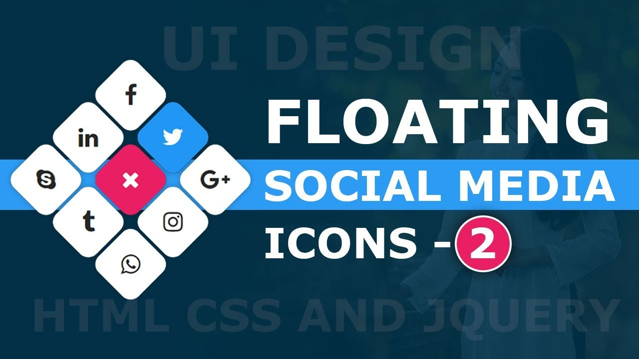Social Media Sharing Button Ui Design 2 Floating Social Media Icons Using Html Css And Javascript Web Design Tips