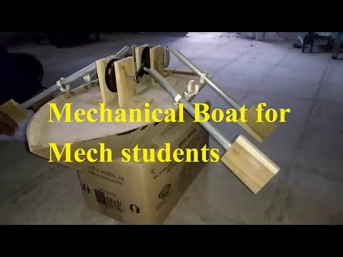 Final Year Mechanical Engineering Project ideas - Mechanical Rowing boat