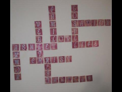 DIY Scrabble Wall Art