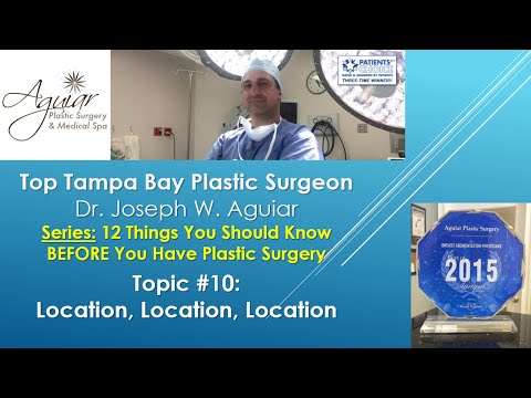 Location Of Your Plastic Surgery | Tampa FL | 813-658-3600 | Aguiar Plastic Surgery | Near Me