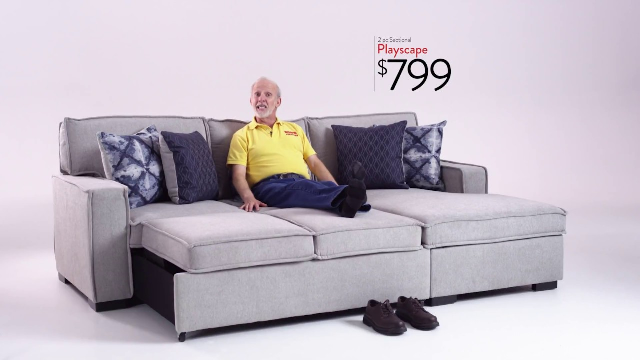 Playscape Sectional Bob S Discount Furniture Youtube