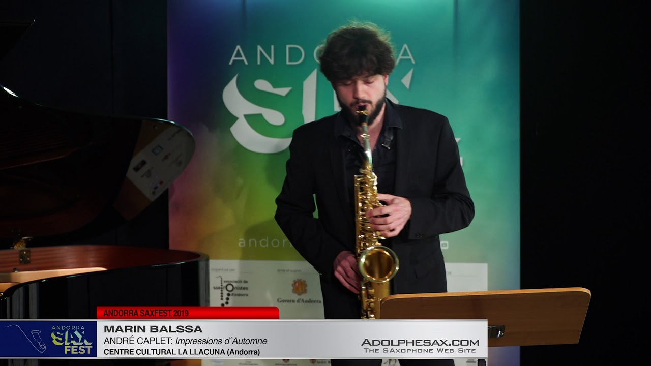 Andorra SaxFest 2019 1st Round   Marin Balssa   Impressions d´Automne by Andre Caplet