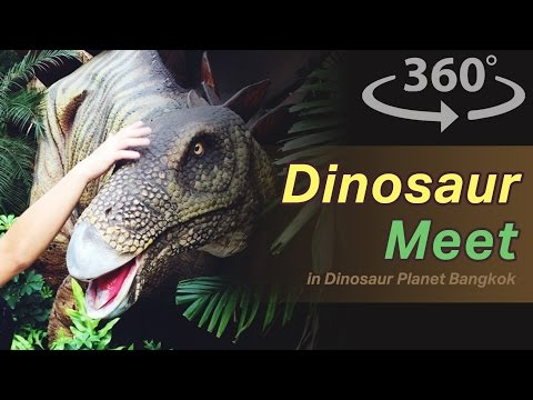 Dinosaur Meet in Dinosaur Planet in Bangkok VR | 360 Video