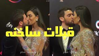 قبلات ساخنه من الفنان حسام الجندى لزوجته فى ختام مهرجان القاهرة السينمائي