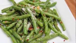 Parmesan Garlic Roasted Green Beans Recipe