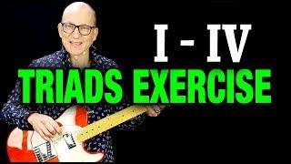 triads lesson: i - iv exercise in 3 keys