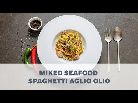 Mixed Seafood Spaghetti Aglio Olio Recipe - Cooking With Bosch