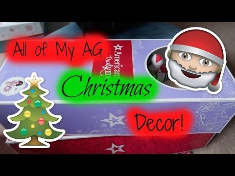 all of my american girl doll christmas stuff - Girl Stuff For Christmas