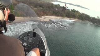 Gyrocopter stunt - Flying at very low level in FULL-HD