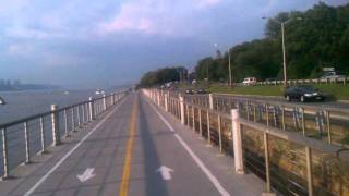 Bike Path alongside the WestSide Highway here in Manhattan