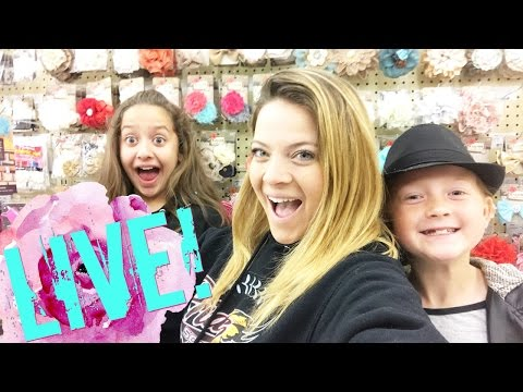 Shop with us! Hobby Lobby! Live