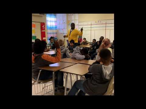 Finkley Speaking at Manning Junior High School during Career Day