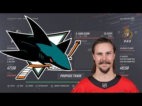 Karlsson TRADED To The  San Jose Sharks Review (NHL 19 Sim)