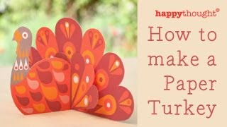 How To Make A Paper Turkey: Printable Christmas / Thanksgiving Craft Template