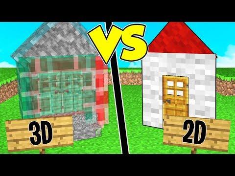 CASA IN 3D contro CASA IN 2D su MINECRAFT!
