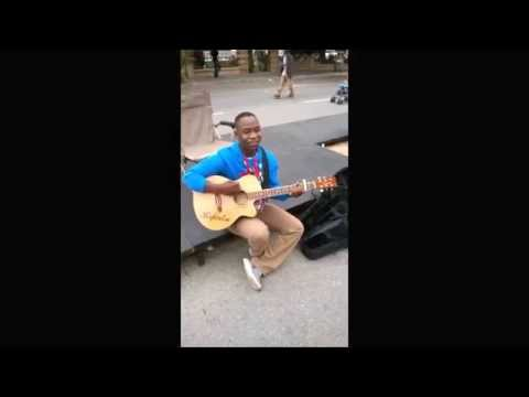 Refentse Morake  Busking at KKNK