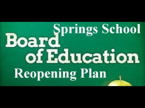 Download Special Meeting  Re Opening Plan, Finance & BOE Calendar Adoption