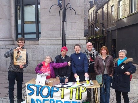 Scotland takes to the streets against TTIP