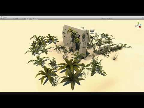 """Interactive plants"" for Unity Engine"