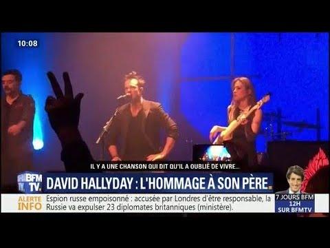 """""""Un père que j'ai profondément aimé..."""" Sur scène, David Hallyday rend aussi hommage à Johnny"""