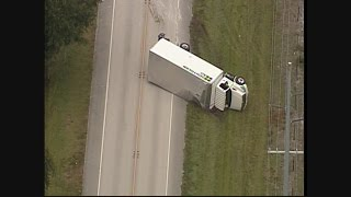RAW VIDEO: Action Air 1 captured video of an over turned truck on SR 62 east of Duette Rd in Manatee