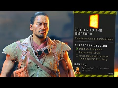 Blackout: How to UNLOCK Takeo! (Emperor Letter Location)