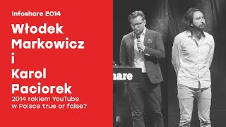 Infoshare 2014: Włodek Markowicz i Karol Paciorek - 2014 rokiem YouTube w Polsce  true or false?