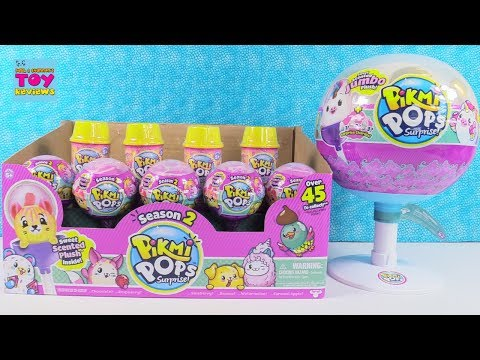 Pikmi Pops Season 2 Jumbo Unicorn Scented Plush Toy Review Opening | PSToyReviews
