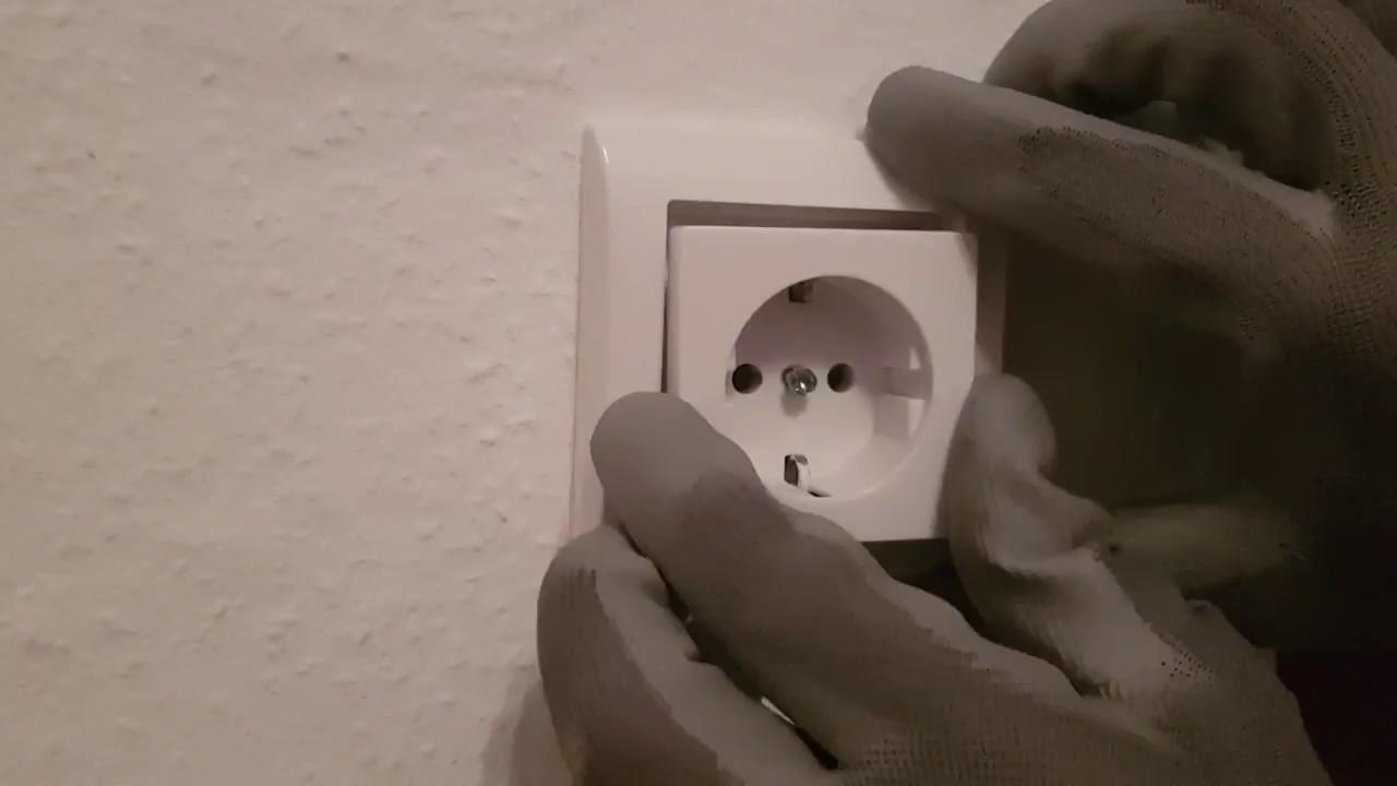 Steckdose wechseln / enfernen zum malern oder reinigen - YouTube