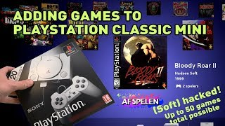 Adding games to a Playstation Classic Mini - Soft hack for PS1 Classic Mini